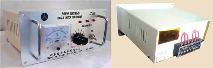 参考国内外同类产品最新技术,我们研发的YLJ-K系列力矩电机控制器,由集成电路和进口可控硅模块组成,无触点运行。采用软启动和锯齿波叠加高频振荡信号移相触发可控硅的原理,控制力矩电机输出力矩和转速, 以满足不同设备工艺、不同产品规格的生产要求。另外,特别为PLC自动化程序控制系统设计了0-10V DC信号输入的开环力矩电机控制器,有整体式和分体式可供不同安装形式的选择。  0-10V DC信号输入接线板